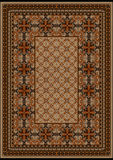 Luxurious carpet with original pattern with brown shades. Luxurious vintage oriental rug with original pattern with  brown shades Royalty Free Stock Photography