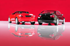 Luxurious cars back view stock photography