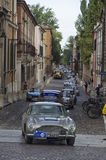 Luxurious cars in a row at the Nuvolari Grand Prix Royalty Free Stock Images