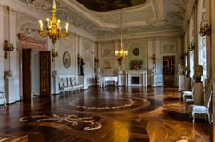 Luxurious castle. Luxury castle hall, historic views inside the Palace Stock Photography