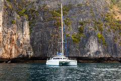 Luxurious catamaran Stock Photography
