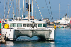 Luxurious catamarans Stock Photos