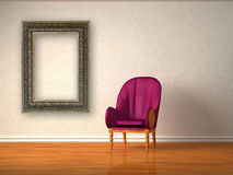 Luxurious chair with modern frame Royalty Free Stock Image