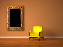 Luxurious chair with modern frame Stock Photography