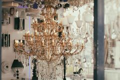 Luxurious chandelier Stock Photography