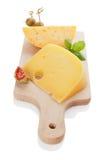 Luxurious cheese still life. Stock Image
