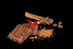 Luxurious chocolate candy Royalty Free Stock Images