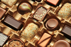 Luxurious Chocolates in box Stock Image