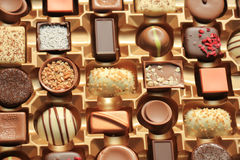 Luxurious Chocolates in box Royalty Free Stock Photography
