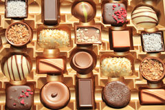 Luxurious Chocolates in box Stock Photo