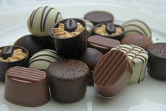 Luxurious Chocolates. On a pile Stock Images