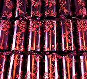 Luxurious Christmas crackers Royalty Free Stock Images