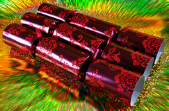 Luxury  Christmas crackers Royalty Free Stock Images