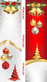 Luxurious Christmas and New Year web banners Royalty Free Stock Photography