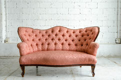 Luxurious classical vintage sofa stock photo