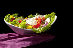 Luxurious colorful salad. royalty free stock photography