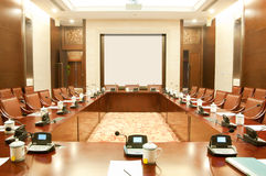 Luxurious conference room Royalty Free Stock Photo