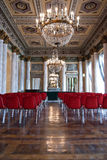 Luxurious conference room. Luxurious meeting room in italian ancient palace Stock Photos