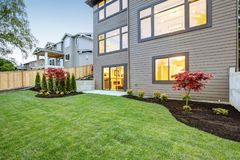 Luxurious new construction home in Bellevue, WA. Royalty Free Stock Photos