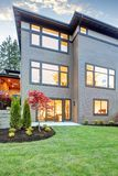 Luxurious new construction home in Bellevue, WA. Stock Photos