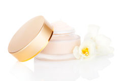 Luxurious cream. Cosmetics. Royalty Free Stock Photography