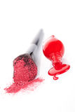 Luxurious cosmetics background in red and white. Royalty Free Stock Image