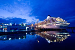 Luxurious cruise in the port of Guayaquil, Ecuador Stock Image