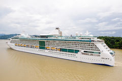 Luxurious cruise ship. On Gatun lake, Panama canal, South America royalty free stock images