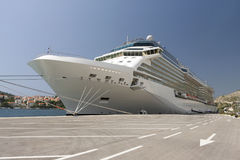 Luxurious Cruise Ship In Dubrovnik Croatia Stock Images