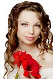 Luxurious curly girl Royalty Free Stock Photos