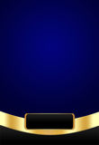 Luxurious Dark Blue Background. A luxurious background in blue and golden colors Stock Photos