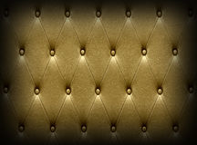 Luxurious dark golden leather  seat upholstery Stock Photo