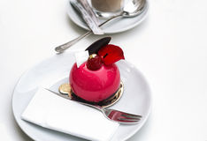 Luxurious dessert fine dining example Stock Photos