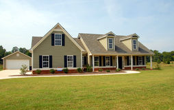 Luxurious detached house Royalty Free Stock Image