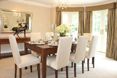Luxurious Dining Room Royalty Free Stock Photography