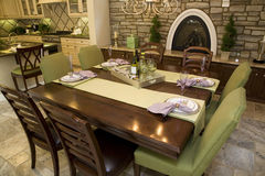 Luxurious dining room. Stock Photo