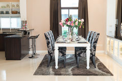 Luxurious dining room Royalty Free Stock Image