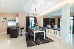 Luxurious dining room interior Stock Photo