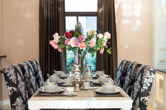 Luxurious dining table Stock Images