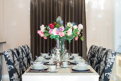 Luxurious dining table Royalty Free Stock Image
