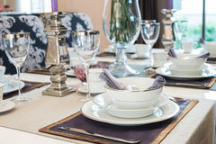 Luxurious dining table stock photography