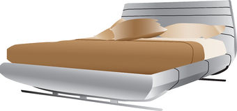 Luxurious double bed Stock Images