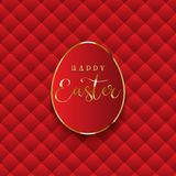 Luxurious Easter egg background. With quilted red texture royalty free illustration