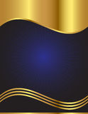 Luxurious and Elegant Vector Background. An elegant  background in dark blue with gold trim Stock Image