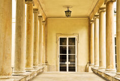 Luxurious entrance between columns Royalty Free Stock Photo