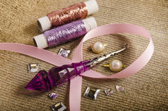 Luxurious and fashionable haberdashery and hobby Stock Image