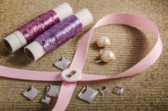 Luxurious and fashionable haberdashery and hobby Stock Photography