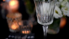 Luxurious festive table setting stock footage