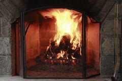 Luxurious fireplace Royalty Free Stock Photos