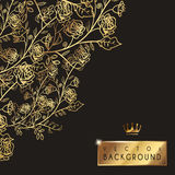 Luxurious floral background template design Stock Image